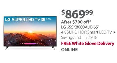 LG 65SK8000AUB 65 4K SUHD HDR Smart LED TV