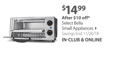 Choice of 9 Bella Small Appliances