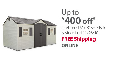 Lifetime 15' x' 8' Sheds