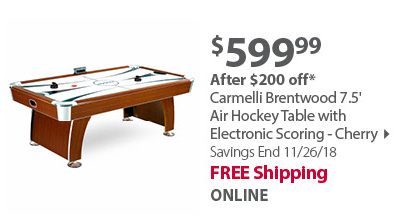 Brentwood 7.5-ft Air Hockey Table