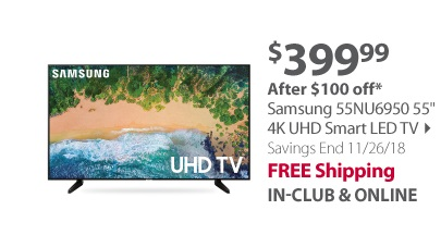 Samsung 55NU6950 55 4K UHD Smart LED TV