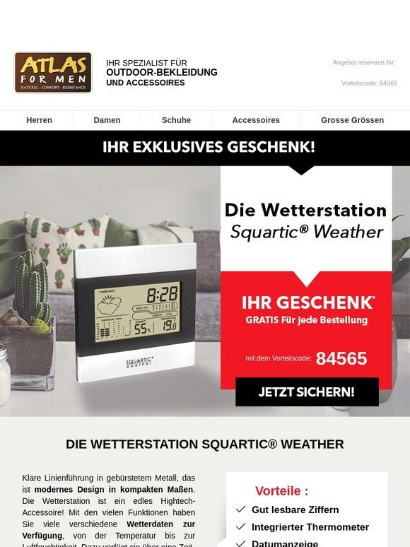 neue bilder von neueste art preiswert kaufen Atlas For Men : Gerüstet gegen Kälte: Die Wetterstation als ...