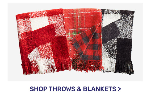 Shop throws and blankets.