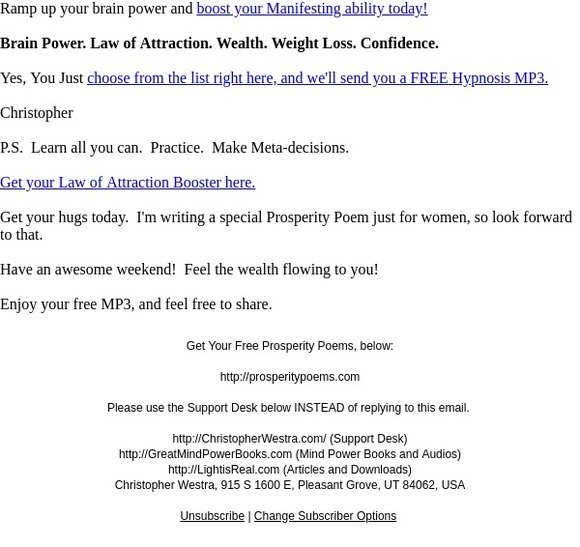 Freedom Lifestyle Income Program: Download YOUR Free Hypnosis