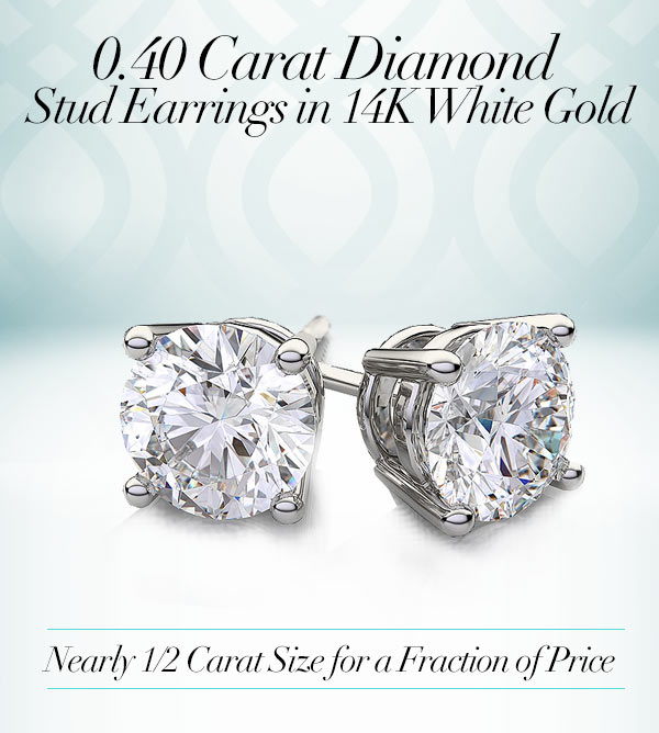 256233f77 Early Black Friday! Near 1/2 CARAT Size Studs in 14K Gold - Save Hundreds!