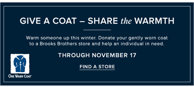 GIVE A COAT — SHARE THE WARMTH