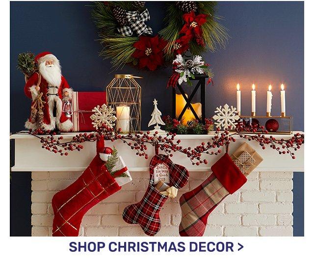 Shop Christmas decor.