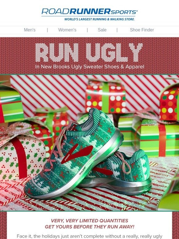 Road Runner Sports  Run Ugly In New Brooks Ugly Sweater Shoes   Apparel  0e7733939bce