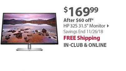 HP 32S 31.5 Monitor