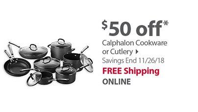 $50 Off Calphalon Cookware or Cutlery