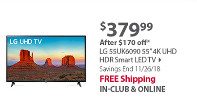 LG 55 55UK6090 4K Smart TV