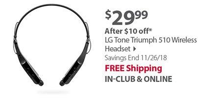LG Tone Triumph 510 Wireless Headset