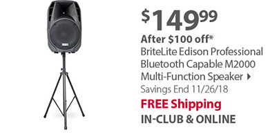 BriteLite Edison Professional Bluetooth Capable M2000 Multi-Function Speaker