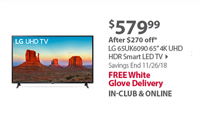 LG 65 65UK6090 4K Smart TV