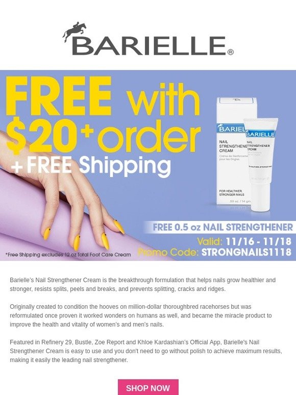 Fisk Industries Inc: Last chance to get a free Nail Strengthener ...