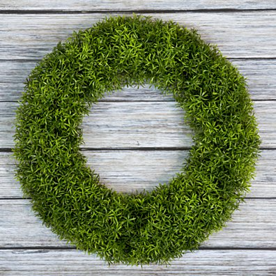 Boxwood Wreath, Artificial Wreath for the Front Door Grass Like Indoor Outdoor 20 Inches