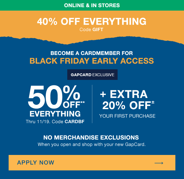 ONLINE & IN STORES | 40% OFF EVERYTHING