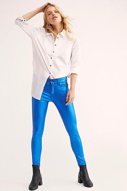 Neon Blonde Bombshell Metal Jeans