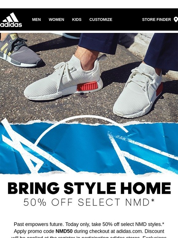 Adidas: NMD SALE: Get 50% off, one day