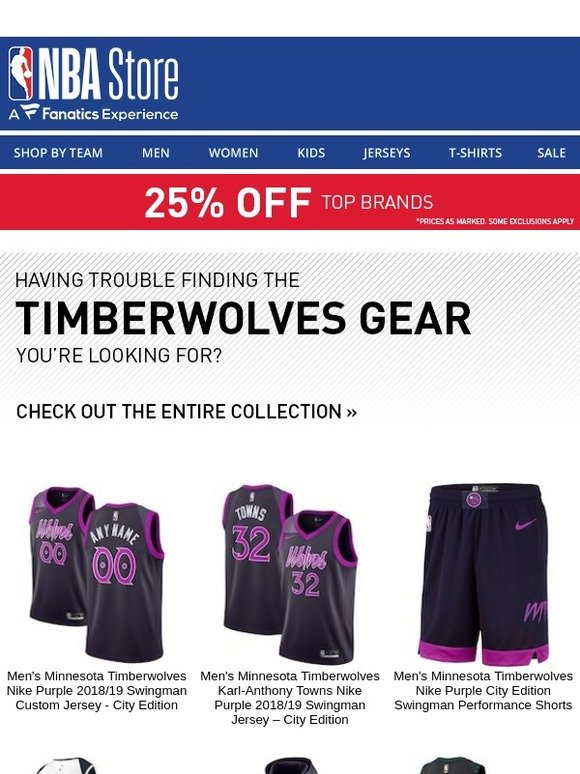 The NBA Store  Rep Your Timberwolves Pride w  These Top Picks ... 9a39c2dfa