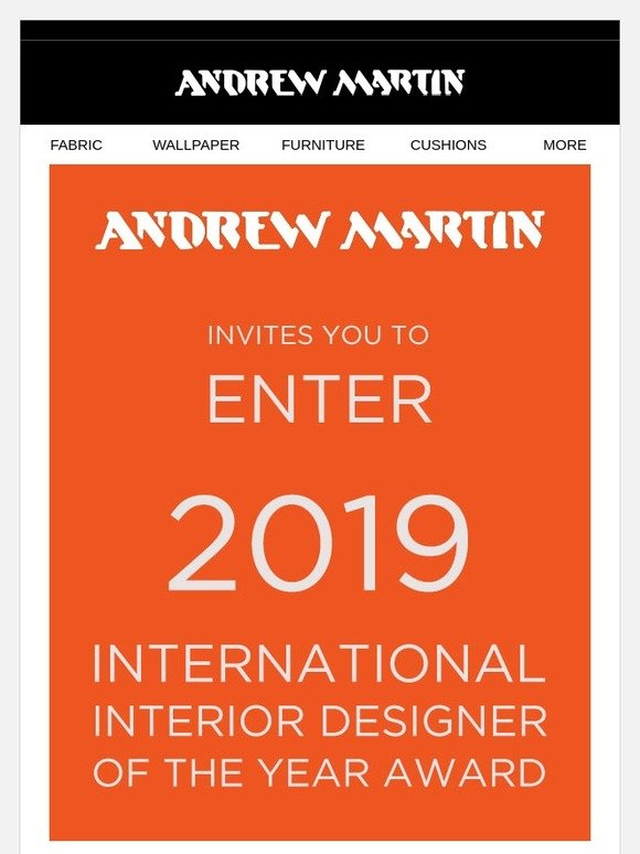Andrew Martin 2019 Interior Designer Of The Year Award Applications Now Open Milled