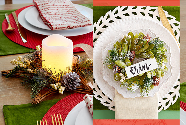 Get inspired by Christmas themed tablescapes.