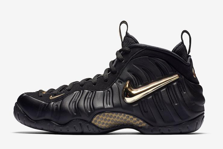 cdeb9b45b7d34 Nike Air Foamposite Pro Black Metallic Gold Collection Hustle black  crewneck-Lacing Up