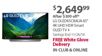 LG OLED65C8AUA 65 4K UHD HDR Smart OLED TV