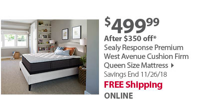 Sealy Response Premium West Avenue Cushion Firm Queen Size Mattress with White Glove Delivery & Haul Away