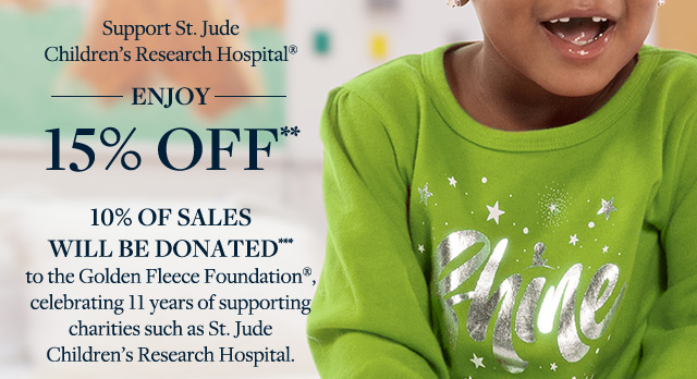 ENJOY 15% OFF** | 10% OF SALES WILL BE DONATED***