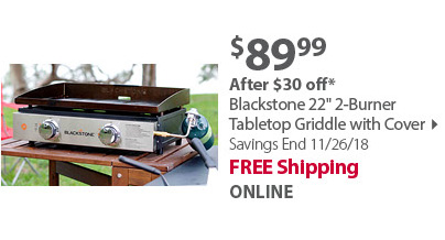 Blackstone 22 Tabletop Griddle w/ Cover