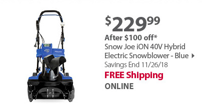 Snow Joe iON 40V Hybrid Electric Snowblower - Blue