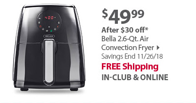 Bella 2.2 lb.Digital Air Fryer