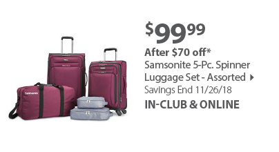 Samsonite soft side 5 pc set