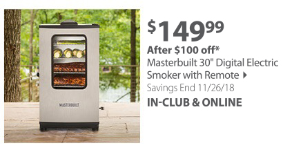 Masterbuilt 30 Digital Electric Smoker with Remote