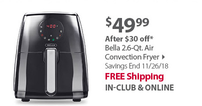 Bella 2.2 lb.Digital Air Fryer