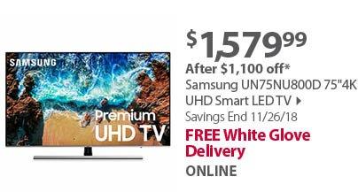 Samsung NU6950 75 4K UHD Smart LED TV