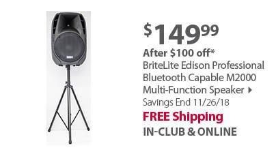 ION Audio ProGlow 8 PA Bi-Amplified Bluetooth Speaker System, 2 pk.