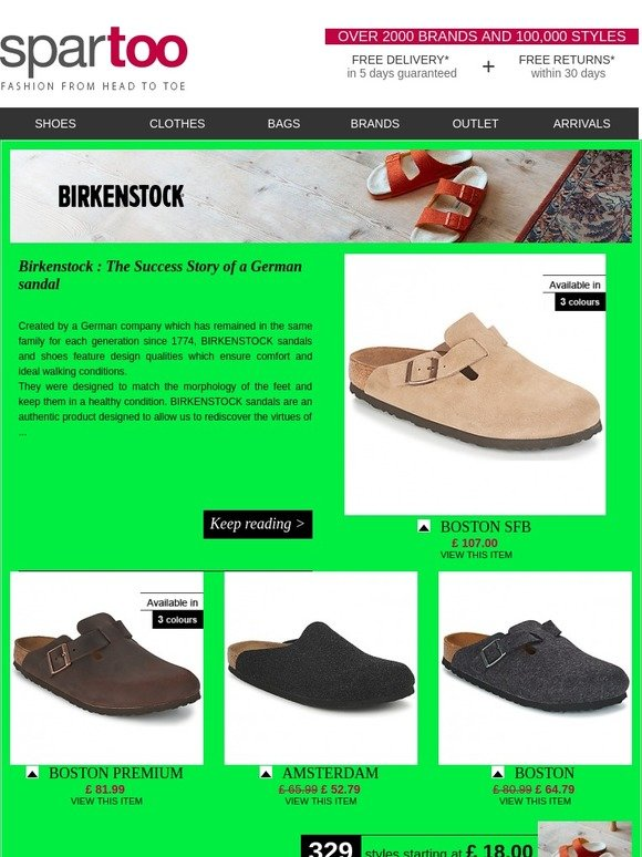 b9dfbeb1d4b spartoo uk  The latest looks at Spartoo! Free delivery on Birkenstock