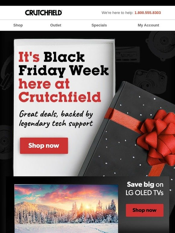 Crutchfield com: BLACK FRIDAY Week is here at Crutchfield! | Milled
