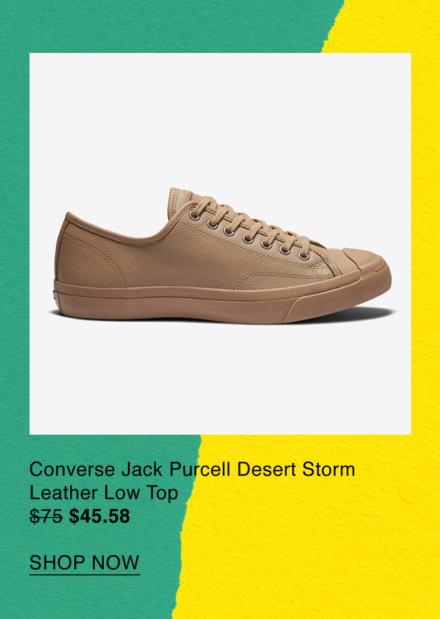 809170f2872e Shop Now  Converse Jack Purcell Desert Storm Leather Low Top