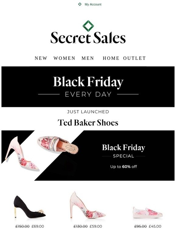 f2e8224097df0 Secret Sales  Black Friday Special  Ted Baker up to 65% off