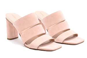 LEILA SLIP-ON STRAP SANDALS IN APRICOT SUEDE EVENT