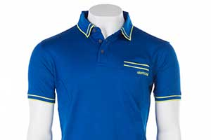 MENS POLO IN MID BLUE