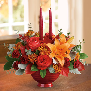 Teleflora's Autumn In Bloom Centerpiece