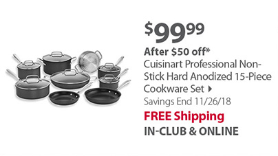 Cuisinart Professional Non-Stick Hard Anodized 15-Piece Cookware Set
