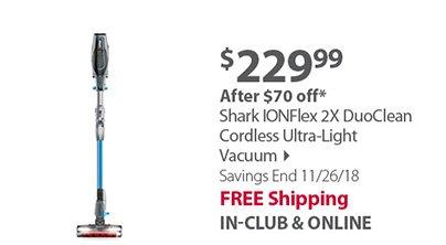 Shark IONFlex 2X DuoClean Cordless Ultra-Light Vacuum