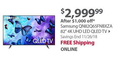 Samsung QN82Q65FNBXZA 82 4K UHD LED QLED TV