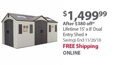 Organize-It 4-Tier 600-lb. Resin Shelving Unit - Black