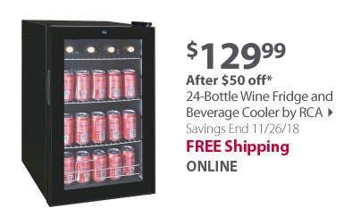 24-Bottle Wine Fridge and Beverage Cooler by RCA